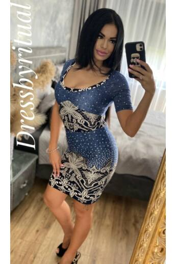 kék ruha -dressbyritual