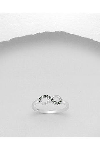 Markazit köves ezüst gyűrű (16mm) VI.