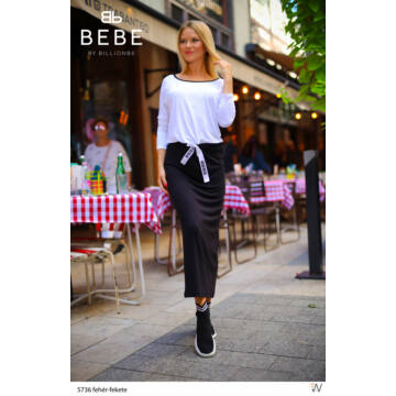 Fekete-fehér maxi ruha - Billionbe by BEBE