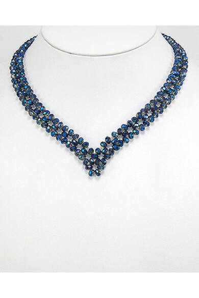Kristályüveg nyaklánc - blue