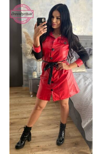 evitta-piros-fekete-mubor-ruha-dressbyritual