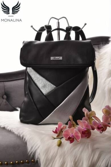 fekete-ezüst-rostbőr-hátizsák-karen