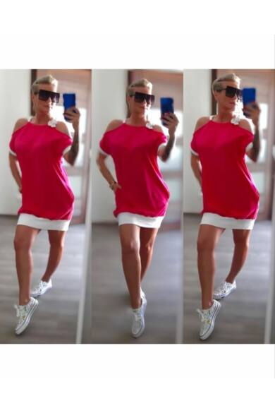 vivana-pink-fehér-ruha-dressbyritual