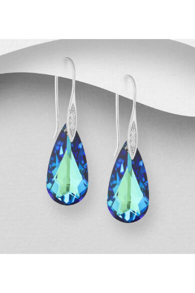 zöldeskék-swarovski-kristályos-ezüst-fülbevaló