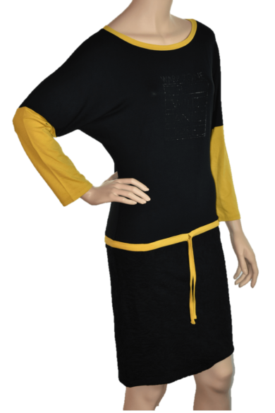 mustár-fekete-színű-hosszú-ruha-warp-zone