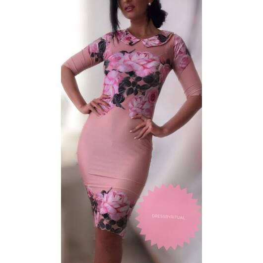 barackszínű dressbyritual romantic ruha