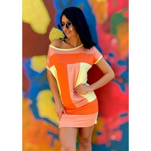 peach-scale-viszkóz-ruha-dressbyritual